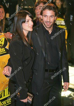 Alessandro Del Piero and Sonia Amoruso arrive for the MTV European awards in Rome