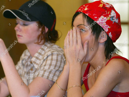 "T.A.T.U VOLKOVA KATINA Russian pop duo ""t.A.T.u,"" Yulia Volkova, right, yawns as Lena Katina looks down during a press conference in Tokyo . The Russian 18-year-olds, on their first visit to Japan, canceled out of the concert Saturday at the last minute, and walked off the set of the live music show, broadcast on a major TV network, after complaining that they had to share airtime with other Japanese performers.The duo left behind a less-than-thrilled Japan on Monday"