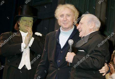 Shuler Hensley, Gene Wilder and Mel Brooks