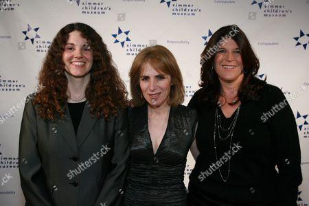 Co-honoree's Linda Simensky & Missy Halperin flank Esther Netter
