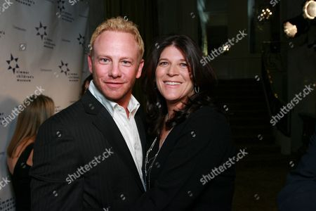 Ian Ziering and Co-honoree Missy Halperin