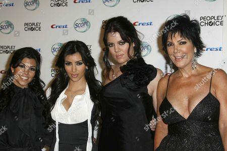 Khloe Kardashian, Kim Kardashian West, Kourtney Kardashian and mother Kris Kardashian