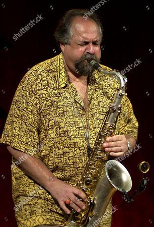 Joe Lovano play tenor saxophone during the first day of Panama Jazz Festival in Panama City, Panama