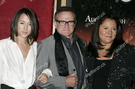 Zelda Williams, Robin Williams and Marsha Garces Williams