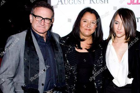 Robin Williams, wife Marsha Garces Williams and daughter Zelda Williams