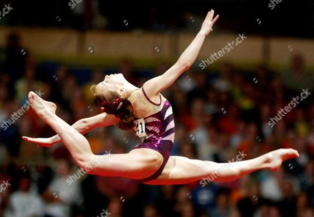 GOMEZ Elena Gomez of Spain performs on the floor during the apparatus final of the European women's gymnastics Championships in Amsterdam, The Netherlands, . Gomez finished in second place