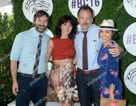 Mark Duplass, wife Katie Aselton, Constance Zimmer and husband Russ Lamoureux