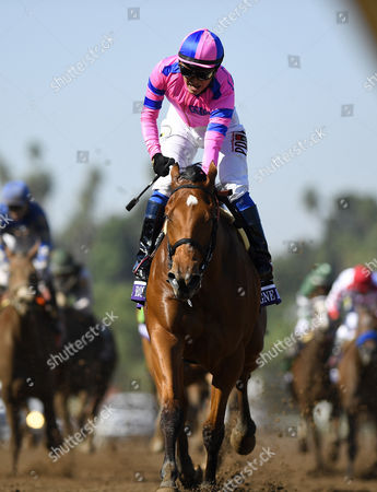 Mario Gutierrez Mario Gutierrez celebrates as he rides Champagne Room to victory in the Breeders' Cup Juvenile Fillies horse race at Santa Anita, in Arcadia, Calif