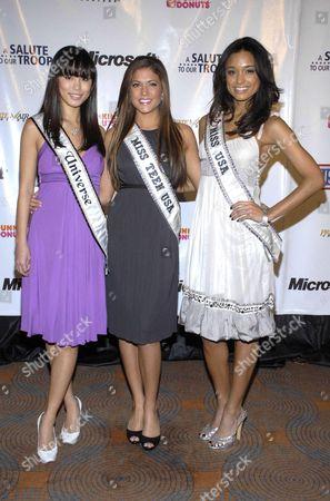 Miss Universe Riyo Mori, Miss Teen USA Hilary Cruz and Miss USA Rachel Smith