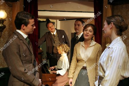 The cast 'Sing Me To Sleep' - Justin Avoth as Charley Wilson, Ashley George as Fred Tenant and Mark Frost as Morton Leslie, Amy Noble as Lily, Octavia Walters as Maggie