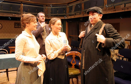 Stock Image of Amy Noble as Lily, Mark Frost as Morton Leslie, Octavia Walters as Maggie and Dudley Hinton as Percy (left to right)