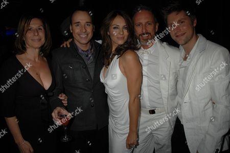Stock Photo of Jo Levine, David Furnish, Elizabeth Hurley, Patrick Cox and Christopher Bailey