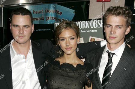 Director Joby Harold, Jessica Alba and Hayden Christensen