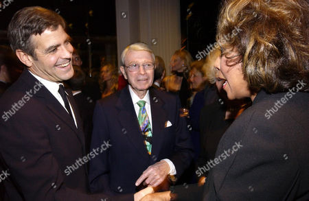 "CARROLL Actors George Clooney, left, entertainment writer Army Archerd and music recording artist Diahann Carroll attend ""An Evening to Remember Rosemary Clooney,"" in Beverly Hills, Calif"