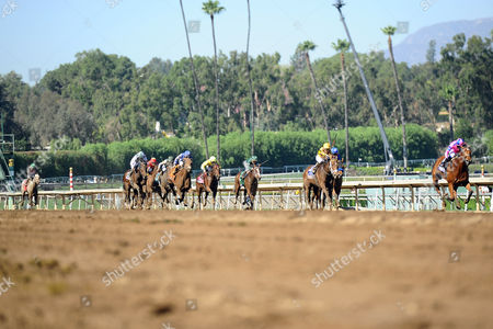 , Santa Anita, USA, Champagne Room with Mario Gutierrez up wins the Breeders' Cup Juvenile Fillies.