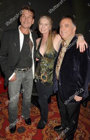 Patrick Swayze, wife Lisa Niemi and Robert Earl
