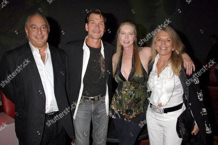 Philip Green, Patrick Swayze, wife Lisa Niemi and Tina Green