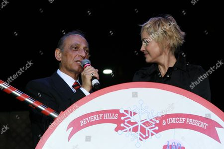 Beverly Hills Mayor Jimmy Delshad and Sharon Stone