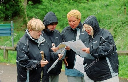 Ann Widdecombe, Coleen Nolan, Kay Purcell and Nicola Duffett  in  'Celebrity Fit Club' - 2002