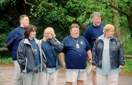 Rick Waller, Coleen Nolan,  Nicola Duffett, Jono Coleman, Tommy Walsh and Kay Purcell  in  'Celebrity Fit Club' - 2002