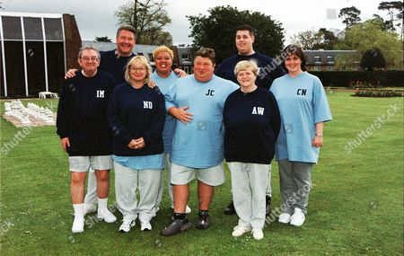 Ian McCaskill, Tommy Walsh, Nicola Duffett, Kay Purcell, Jono Coleman, Rick Waller, Ann Widdecombe and Coleen Nolan in 'Celebrity Fit Club' - 2002
