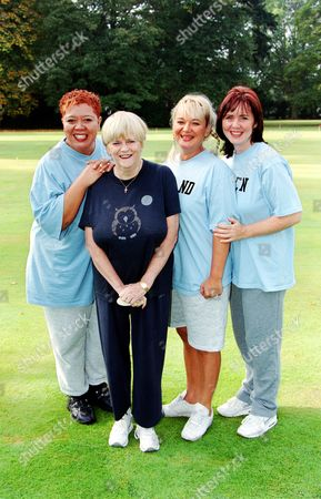 Kay Purcell, Ann Widdecombe, Nicola Duffett and Coleen Nolan in  'Celebrity Fit Club' - 2002