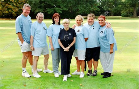 Tommy Walsh , Ian McCaskill, Coleen Nolan, Ann Widdecombe, Nicola Duffett, Jono Coleman and Kay Purcell in  'Celebrity Fit Club' - 2002