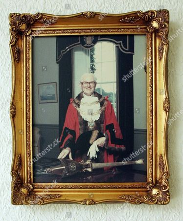Painting of James Mason then aged 75, as Lord Mayor of Torbay