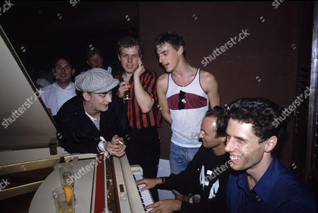 Boy George at the The Style Council's after show party with Mick Talbot and Paul Weller, Nagoya, Japan - Aug 1985
