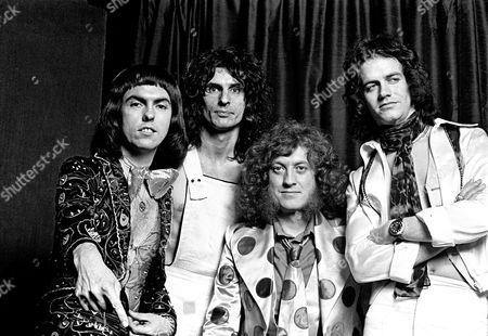 Slade - Dave Hill, Don Powell, Noddy Holder and Jim Lea,   London - 1974