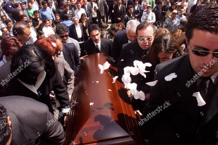 The coffin of Sen. Martha Catalina Daniels is carried into the congress building in Bogota, Colombia on . Senator Daniels and two companions who were trying to negotiate the release of rebel hostages when they were shot in the head and killed, apparently by the rebels. The bodies of the senator, her driver, Carlos Lozano, and Ana Maria Medina were found Saturday in a deep ravine outside Zipacon, 35 miles north of Bogota