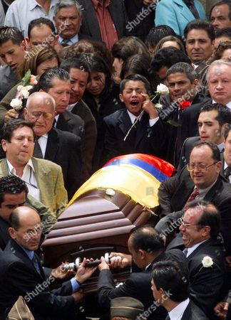 DANIELS SENATOR'S SON: Hernando Rodriguez Daniels, 10, son of slain Colombian Sen. Martha Catalina Daniels cries her funeral in Bogota, Colombia on . Daniels and two companions were trying to negotiate the release of rebel hostages when they were shot in the head and killed, apparently by the rebels of the Revolutionary Armed Forces of Colombia, or FARC. The bodies of the senator her driver, Carlos Lozano, and Ana Maria Medina were found Saturday in a deep ravine outside Zipacon, 35 miles north of Bogota