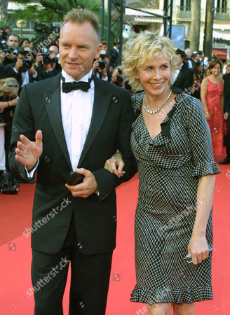 "STING British rock star Sting arrives with his wife Trudy Styler to attend the screening of the film ""All or Nothing "", directed by Briton Mike Leigh, which is in competition at the 55th International Film Festival in Cannes, in southeastern France"