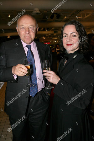 Sir John Tusa ( Chairman of The London College of Fashion) and Dr Frances Corner (Head of The London College of Fashion)
