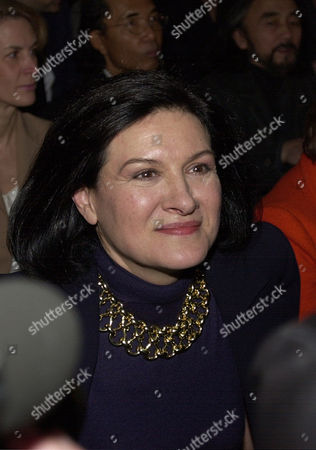 SAINT LAURENT PICASSO Paloma Picasso, daughter of painter Pablo Picasso, before the French legendary fashion designer Yves Saint Laurent's farewell show, at the Georges Pompidou Center in Paris