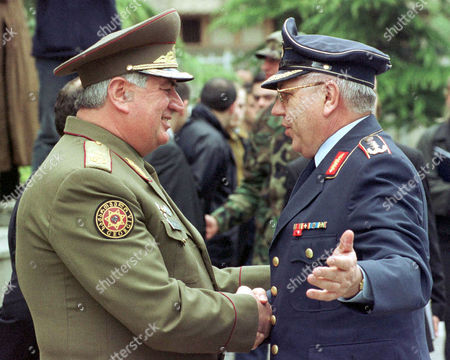 KUJAT PIRTSKHALAISHVILI Chief of the Georgian general staff Dzhoni Pirtskhalaishvili, left, greets Gen. Harald Kujat, chief of staff of the German armed forces, in Tbilisi, Georgia, . Kujat began talks Wednesday with Georgian military officials during a two-day visit expected to focus on possible military assistance to the former Soviet republic