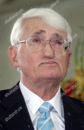 "HABERMAS German philosopher Juergen Habermas is seen after he was awarded with the renowned Peace Prize of the German Booktraders' Association in Frankfurt, Germany, . Habermas, 72, was lauded by the jury as a ""contemporary who has accompanied modern Germany both critically and with commitment"" throughout its development"