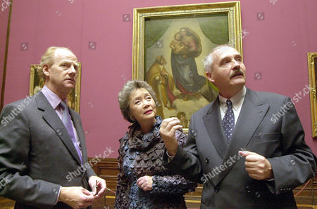 CLARKSON SAUL MARX Adrienne Clarkson, Governor General of Canada, center, and her husband John Ralston Saul, left, stand in front of Raffael's painting 'Sixtinische Madonna' as they were guided by Harald Marx, right, director of the Old Masters Picture Gallery in Dresden, eastern Germany, . Adrienne Clarkson is on an official visit to Germany