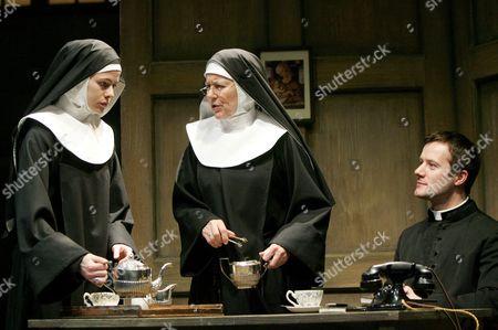 Marcella Plunkett (Sister James), Dearbhla Molloy (Sister Aloysius) and Padraic Delaney (Father Flynn)