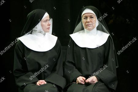 Marcella Plunkett (Sister James) and Dearbhla Molloy (Sister Aloysius)