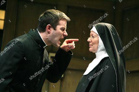 Padraic Delaney (Father Flynn) and Dearbhla Molloy (Sister Aloysius)