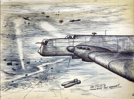 Patriotic stuff from the pen of Fred Goodwin whose wartime paintings and pictures are being displayed for the first time