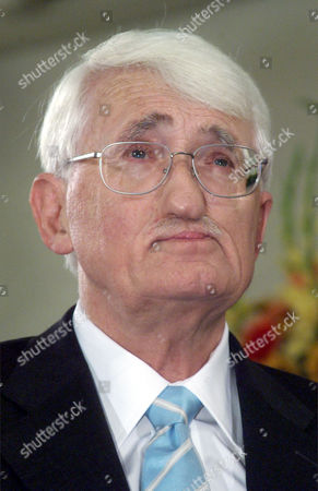 HABERMAS German philosopher Juergen Habermas is seen after he was awarded with the renowned Peace Prize of the German Booktraders' Association in Frankfurt, Germany