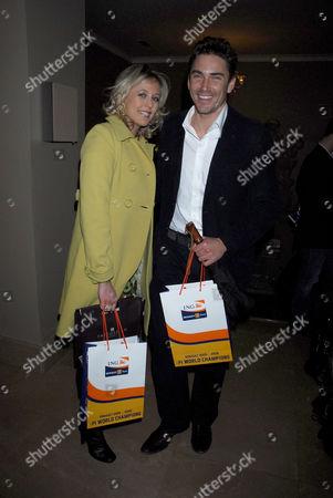 Alexandra Spencer Churchill and her partner David Peacock