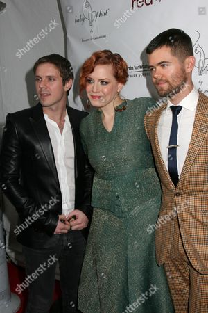Jake Shear, Ana Matronic, and Del Marquis