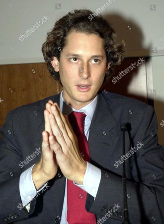 John Philip Elkann, the grandson of Fiat honorary president Giovanni Agnelli, gives a press conference to present the art gallery donated to the city by Giovanni and his wife Marella Agnelli, in Turin, Italy, . The family behind the Fiat auto empire is opening an art gallery housed in an old car factory, with works by Picasso, Matisse and Modigliani collected over the years by honorary company chairman Giovanni Agnelli