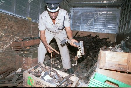 Editorial photo of JAMAICA GUNS, KINGSTON, Jamaica