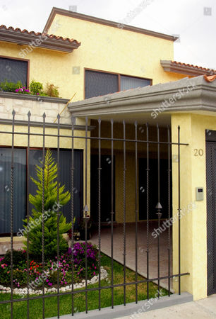 Stock Photo of FELIX RESIDENCE Seen in this photo is the house where alleged drug cartel leader Benjamin Arellano Felix was arrested in Puebla, 65 miles east of Mexico City, Mexico, after soldiers raided his house
