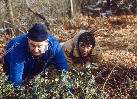 Stock Photo of RONNIE BARKER AND RICHARD BECKINSALE IN 'PORRIDGE' TV