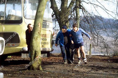 RONNIE BARKER AND RICHARD BECKINSALE IN 'PORRIDGE' TV
